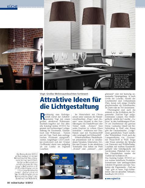 10.09.2012 | Möbel Kultur | Special Küche 09/2012 | Attraktive Ideen Für  Die Lichtgestaltung