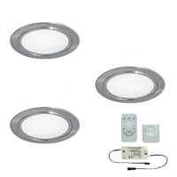3er-Set LED-Einbaustrahler CHIP 58 EMOTION
