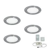 4er-Set LED-Einbaustrahler CHIP 58 EMOTION