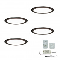 4er-Set LED-Einbaustrahler MOONLIGHT EMOTION
