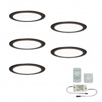 5er-Set LED-Einbaustrahler MOONLIGHT EMOTION