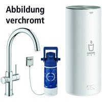 GROHE Red II Duo Armatur C-Auslauf (Edelst.-Finish